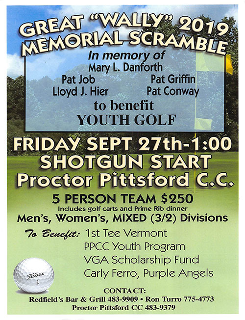2019 Great Wally Memorial - Friday, September 27th, 2019 - 1:00pm Shotgun Start