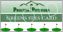 Greens Fee Card