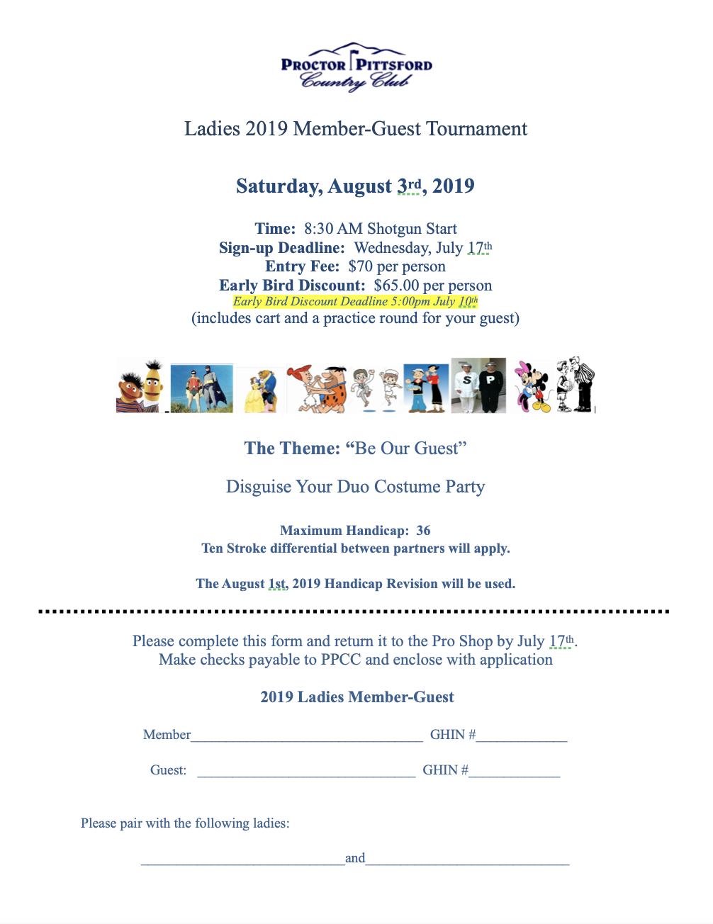 2019-Ladies Member-Guest Tournament-Applications Now Available